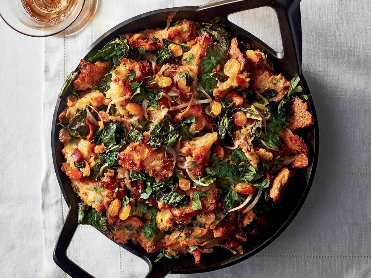 Pancetta, Kale, and Raisin Stuffing