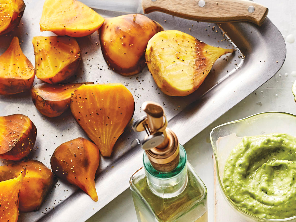 Whole Roasted Golden Beets