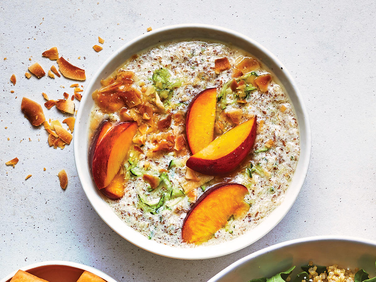 "Paleo ""Oatmeal"" with Peaches and Flax"
