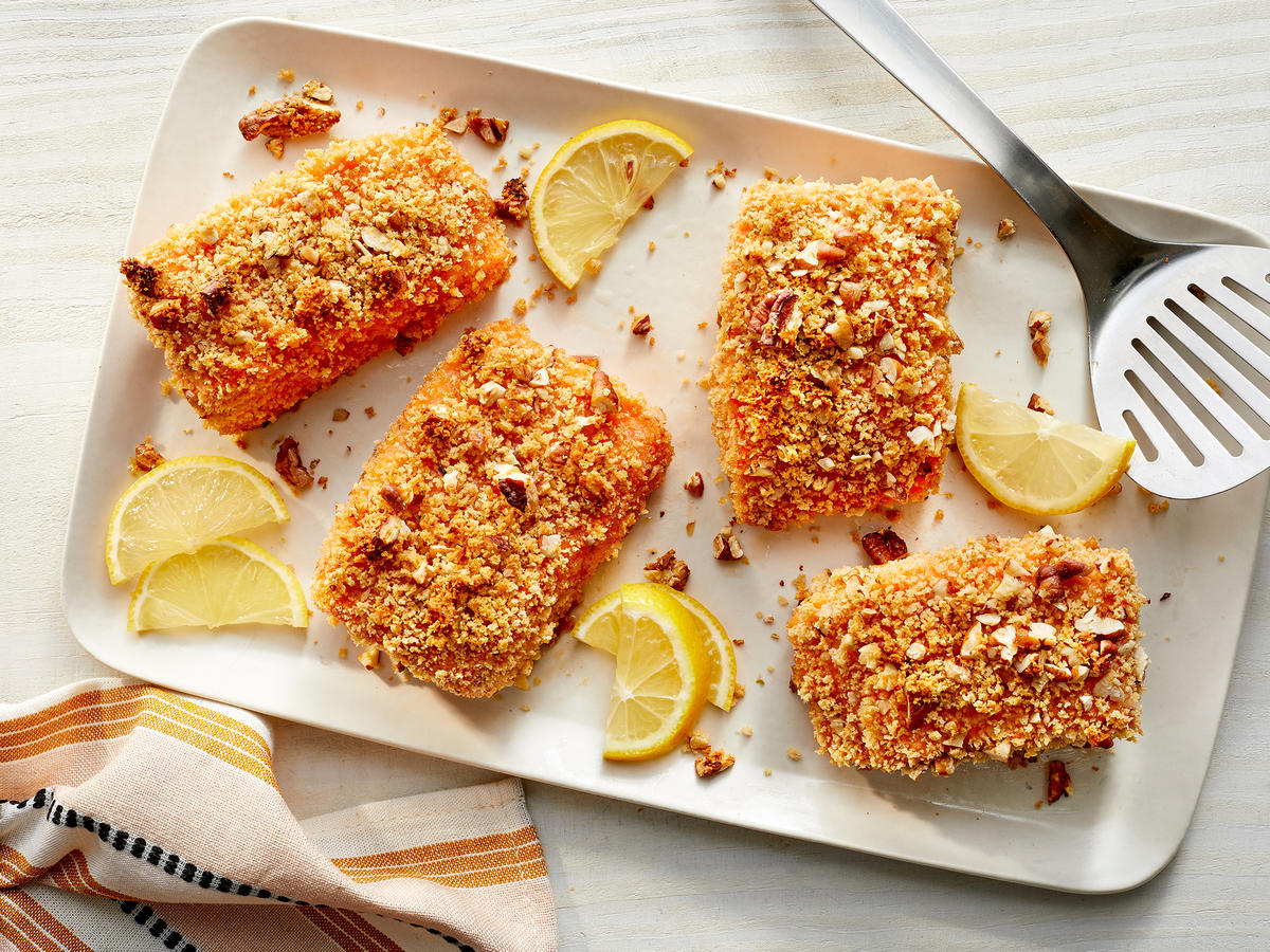 Pecan-Crusted Honey-Mustard Salmon