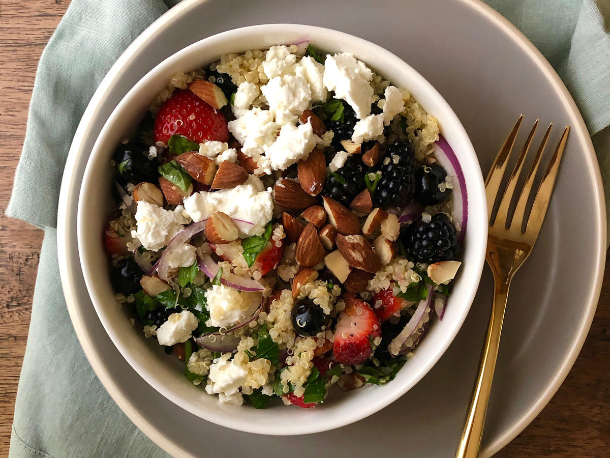 Triple-Berry Quinoa Salad