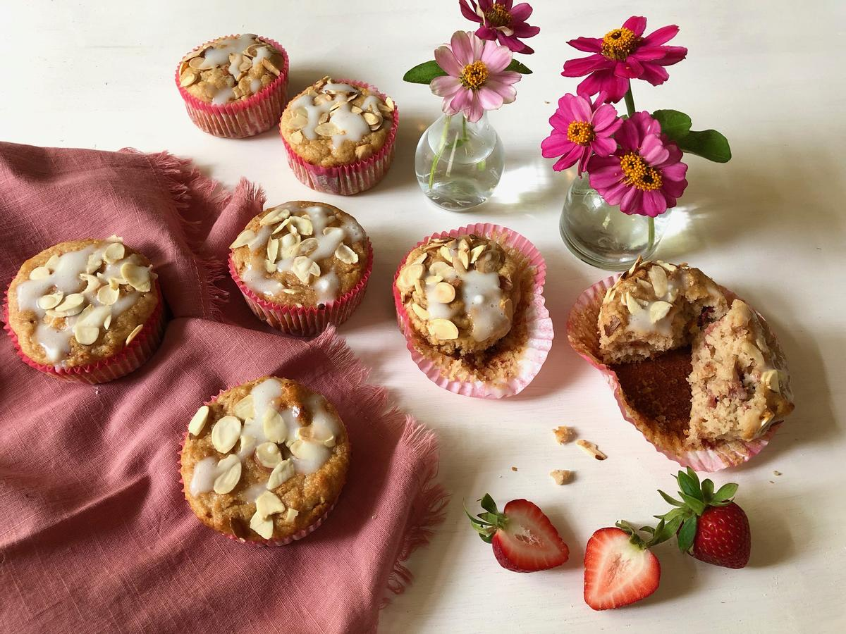 Strawberry-Almond Muffins