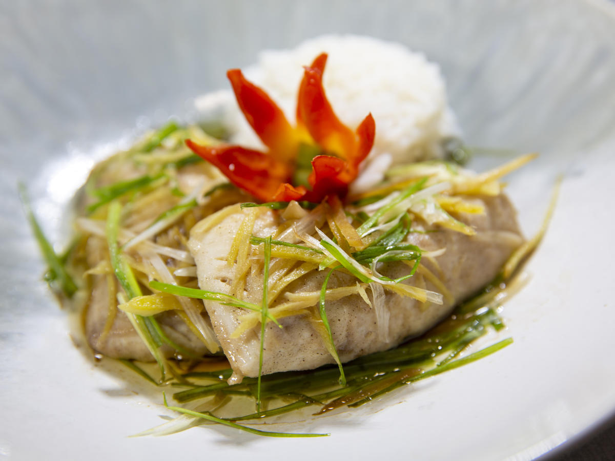 Steamed Ginger Fish & Coconut Rice