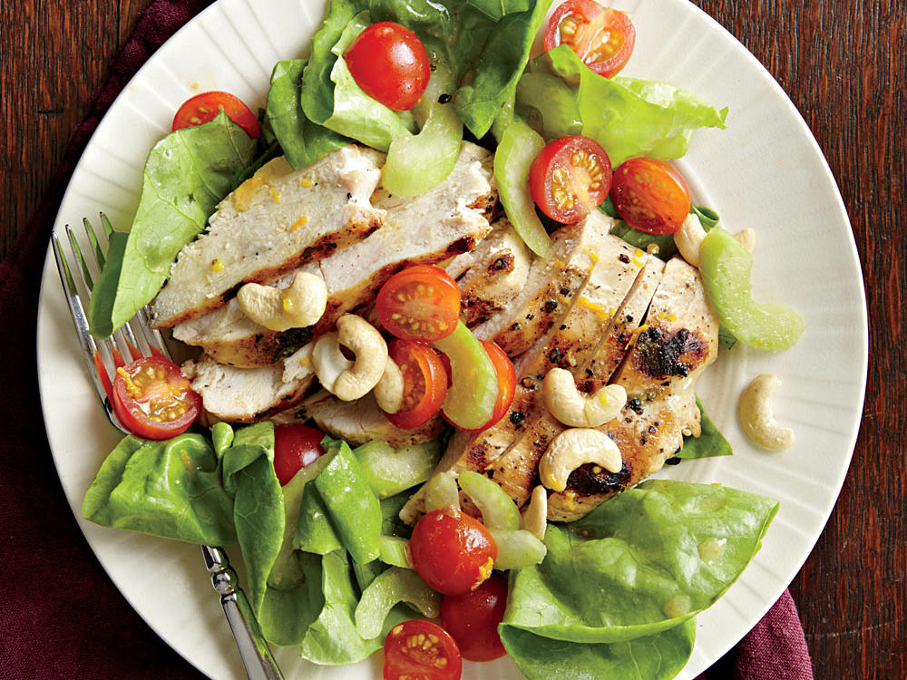 Grilled Chicken Salad with Orange Vinaigrette