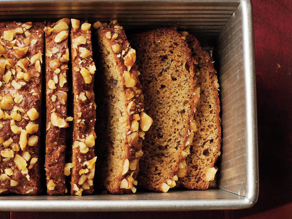 Maple-Walnut-Banana Bread
