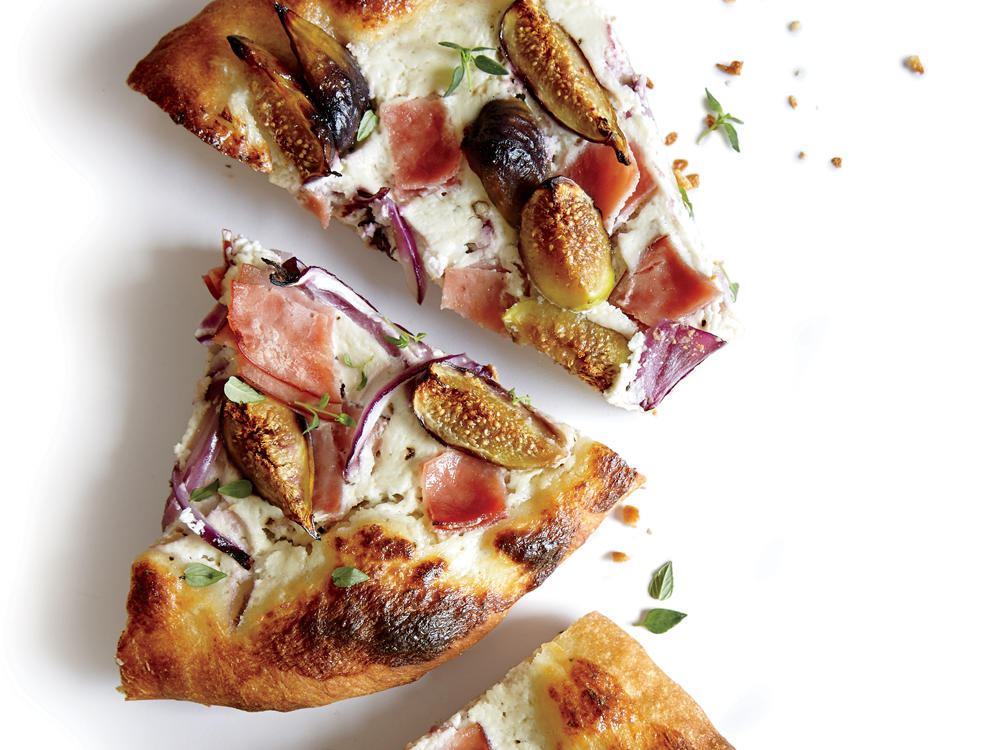 Fig, Ham, and Ricotta Pizza