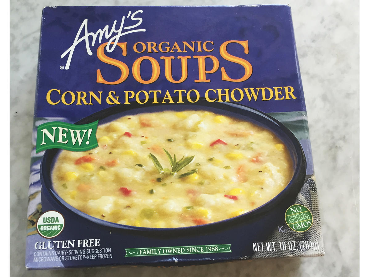 Frozen Food Amy's Corn Potato Chowder