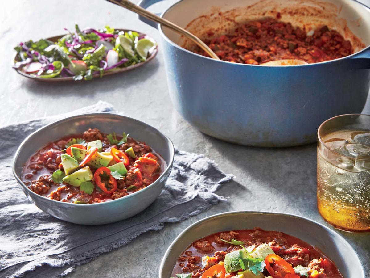 Smoky Beef and Poblano Chili