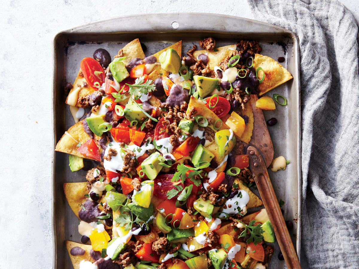 Sheet Pan Beef and Black Bean Nachos