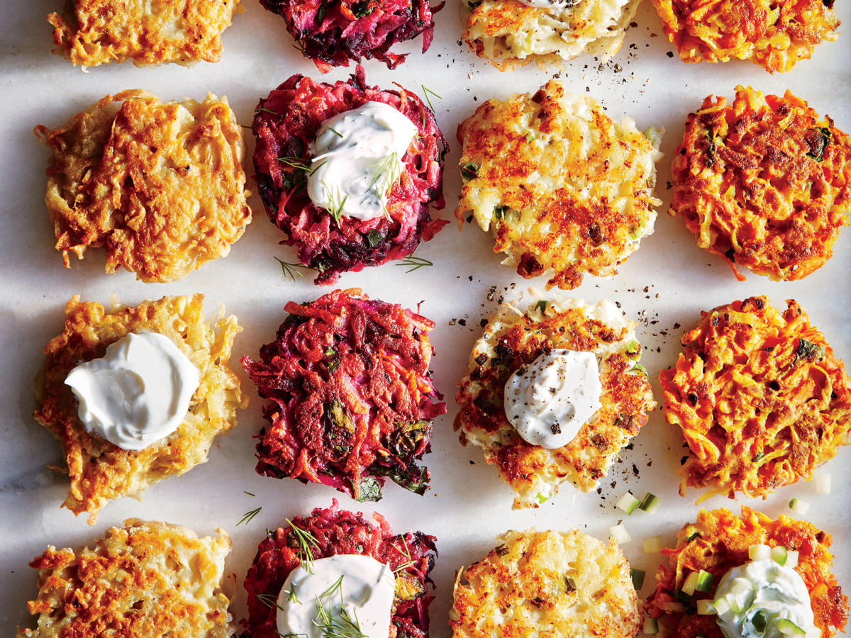 Cheesy Cauliflower Latkes