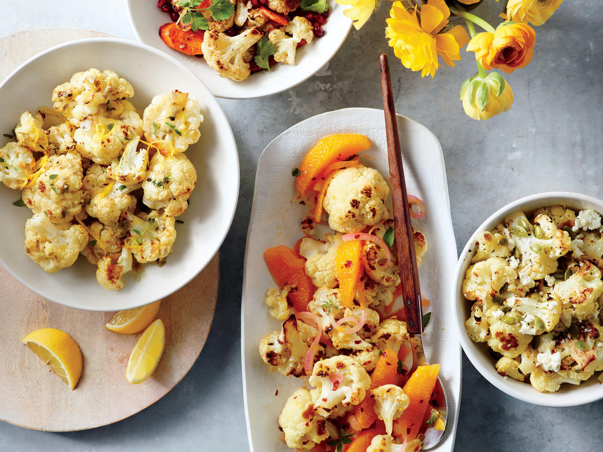 Roasted Cauliflower with Lemon-Caper Vinaigrette