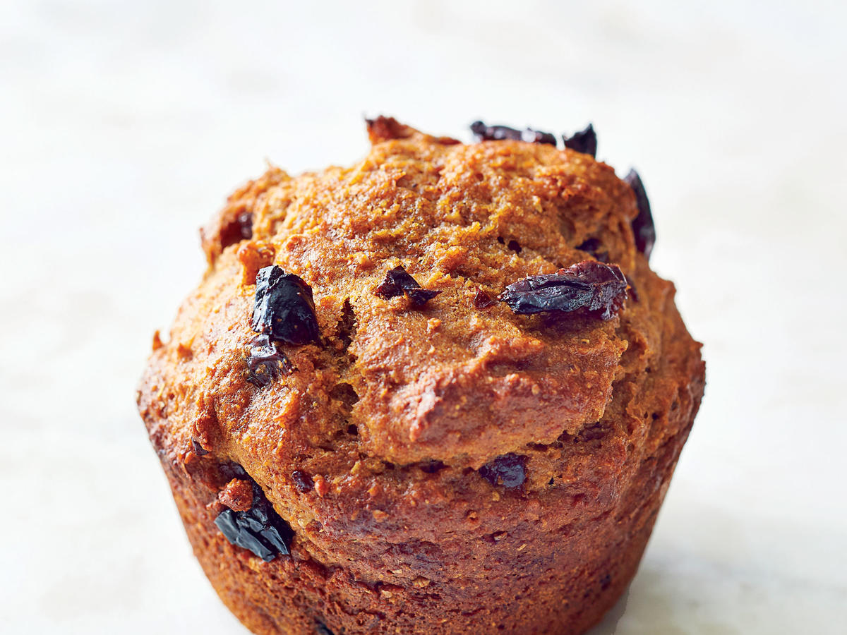 Cherry Gingerbread Muffins