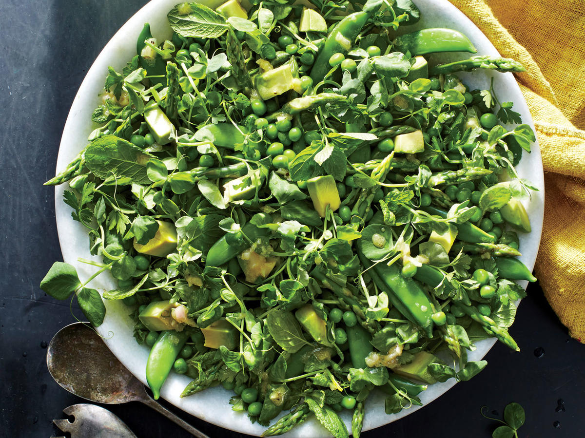 All The Green Things Salad Recipe Cooking Light