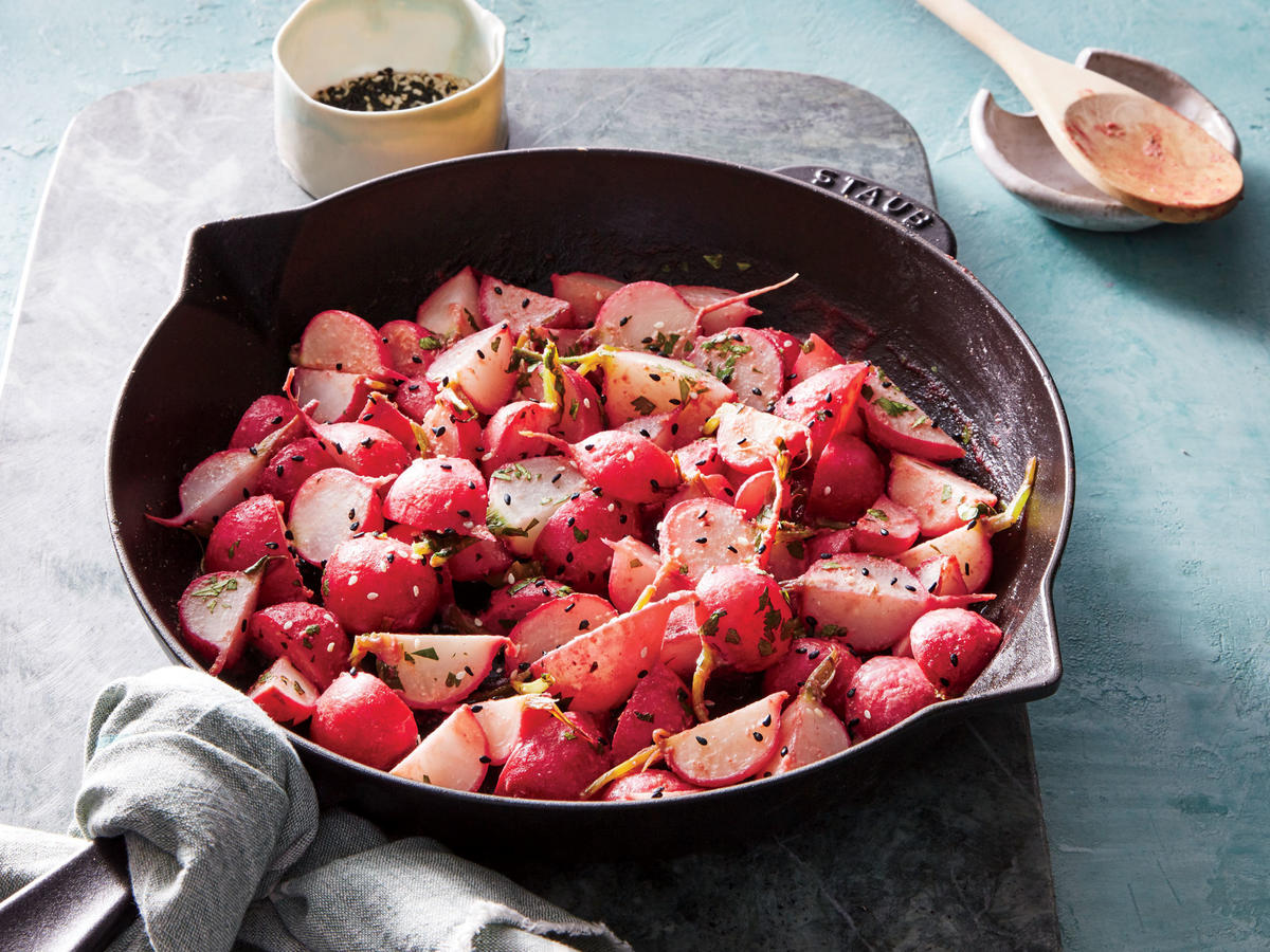 Miso-Glazed Radishes