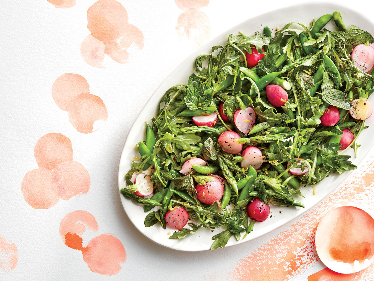 Spring Vegetable and Herb Salad