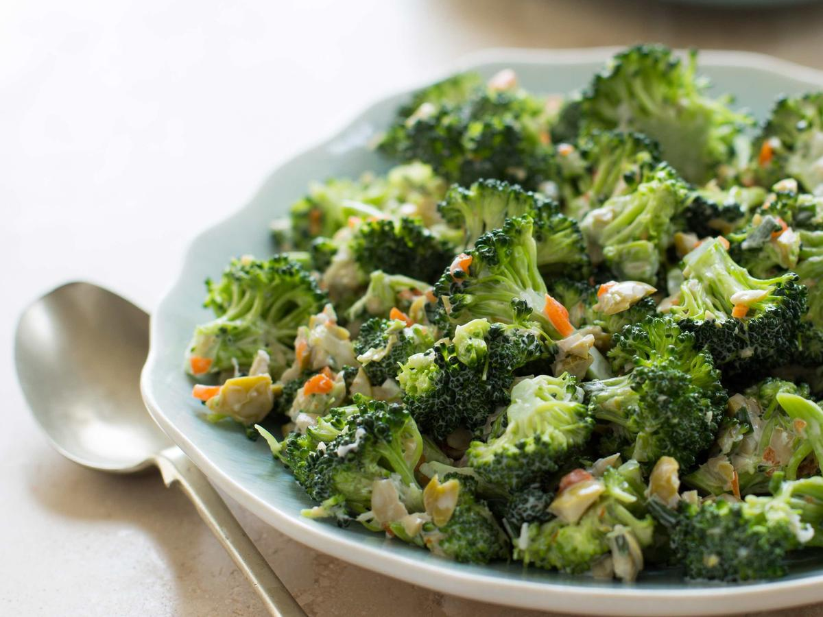 Lucy S Favorite Raw Broccoli Salad Recipe Cooking Light