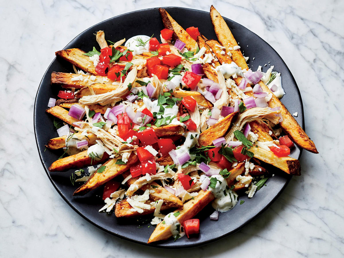 Loaded Greek Feta Fries