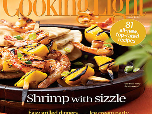 May 2008 Magazine Cover from Cooking Light