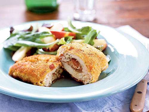 Prosciutto and Fontina–Stuffed Chicken Breasts