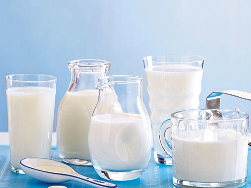 Various types of milk