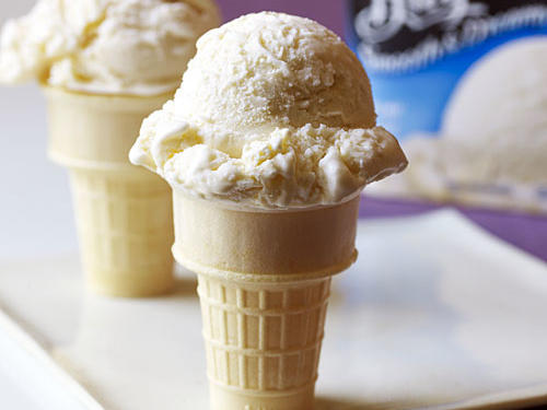 Best Light Vanilla: Breyers ® Smooth & Dreamy ™ 1/2 the Fat Creamy Vanilla Ice Cream