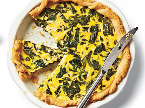 Spinach, Green Onion, and Smoked Gouda Quiche Recipe