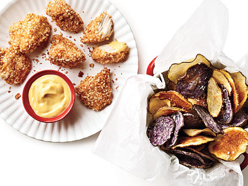Healthier Chicken Nuggets and Homemade Chips