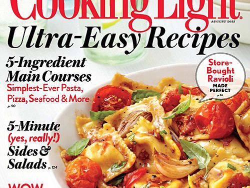 Cooking Light August 2013 Cover