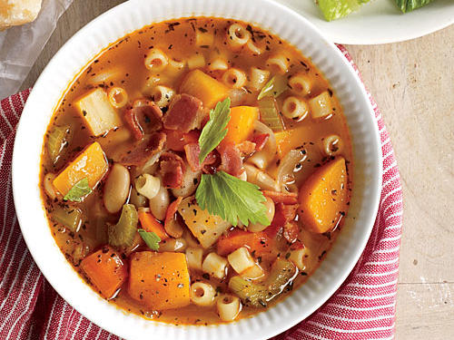 Root Vegetable Minestrone with Bacon