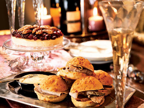 New Year's Eve Buffet (Recipe: Roast Pork Sandwiches)