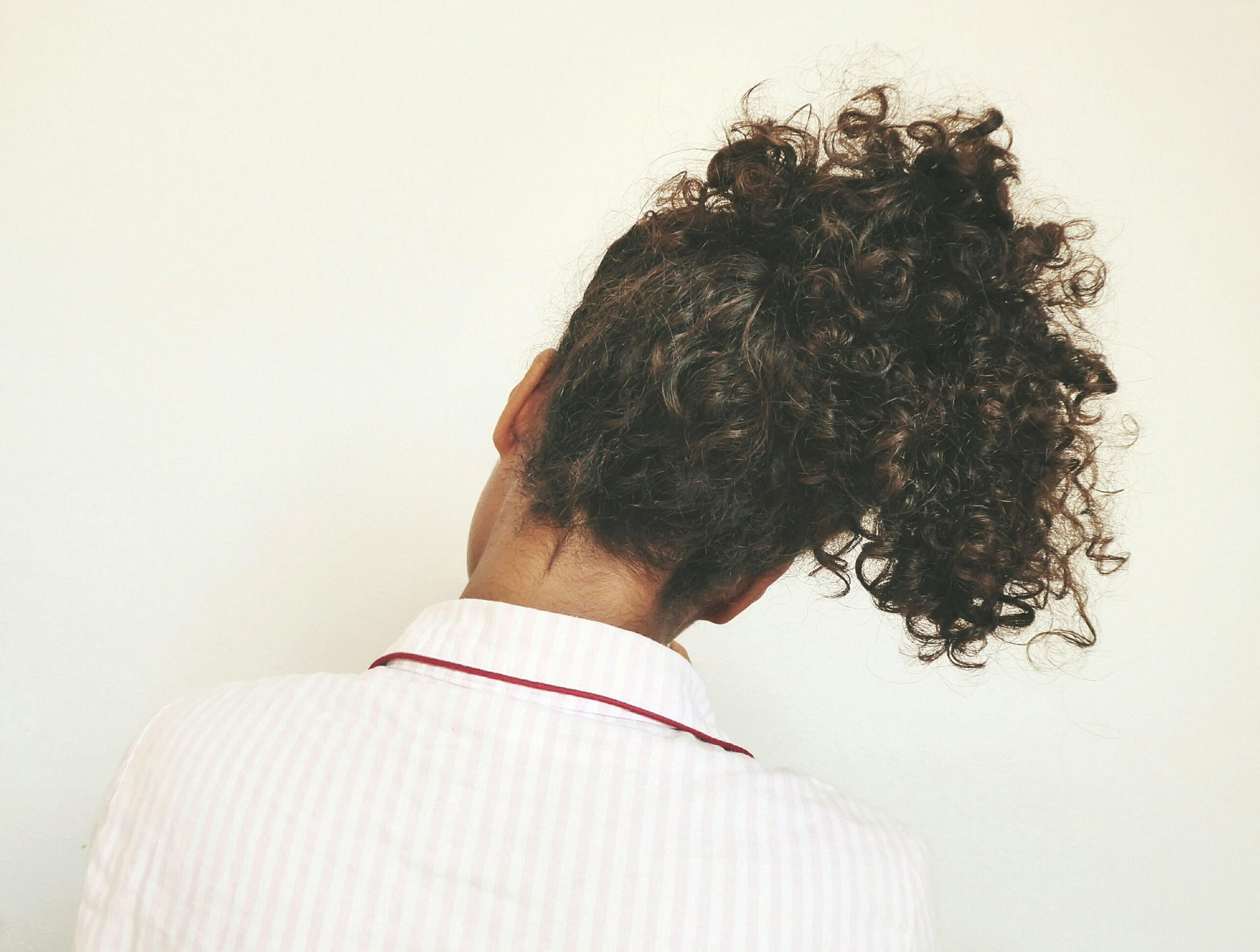 Curly Hair In Ponytail