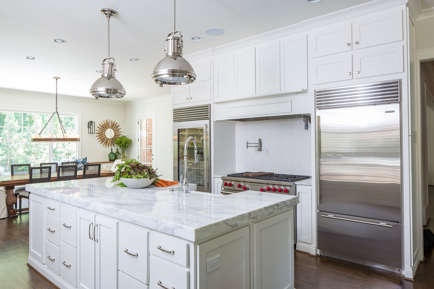 White Kitchen T Olive Properties Custom Builder