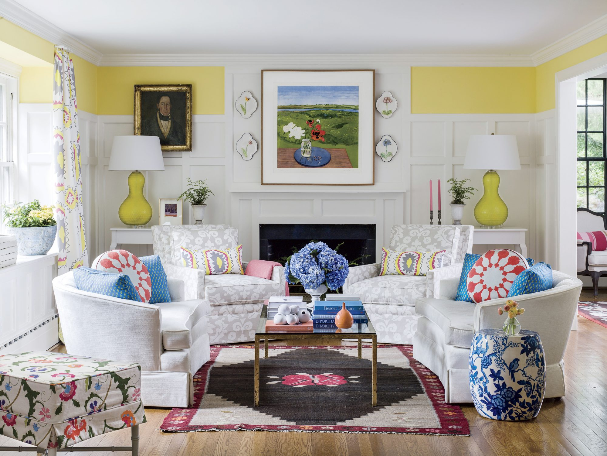 Dana Gibson Colorful Richmond Home Living Room