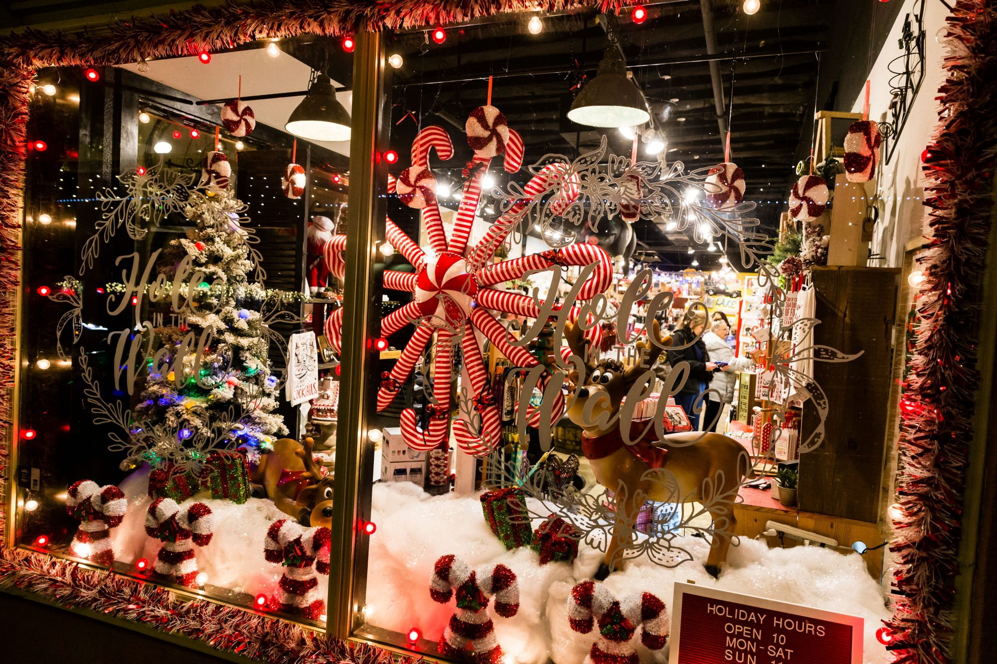 Grapevine TX Christmas Window