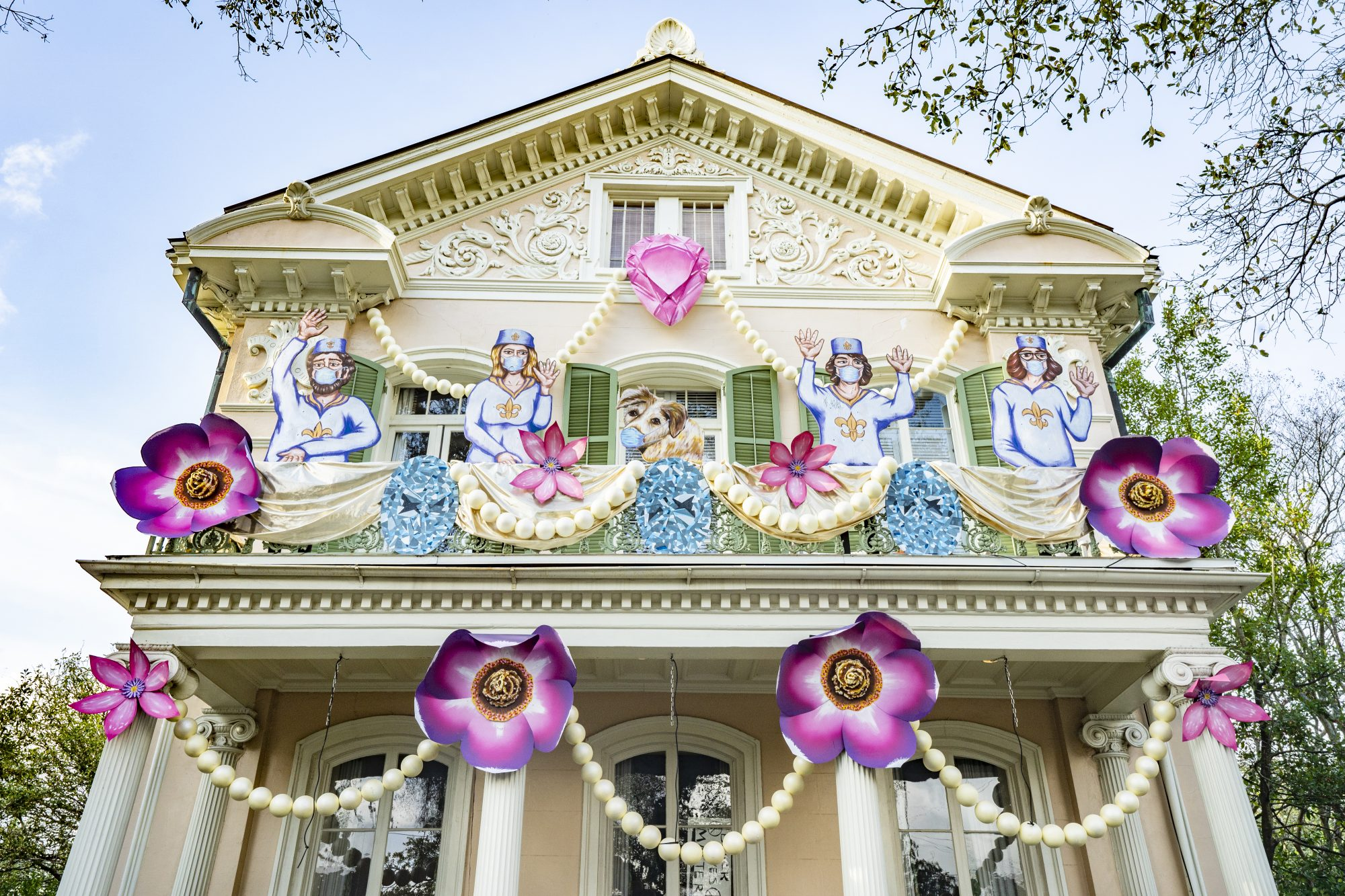 Mardi Gras House Float