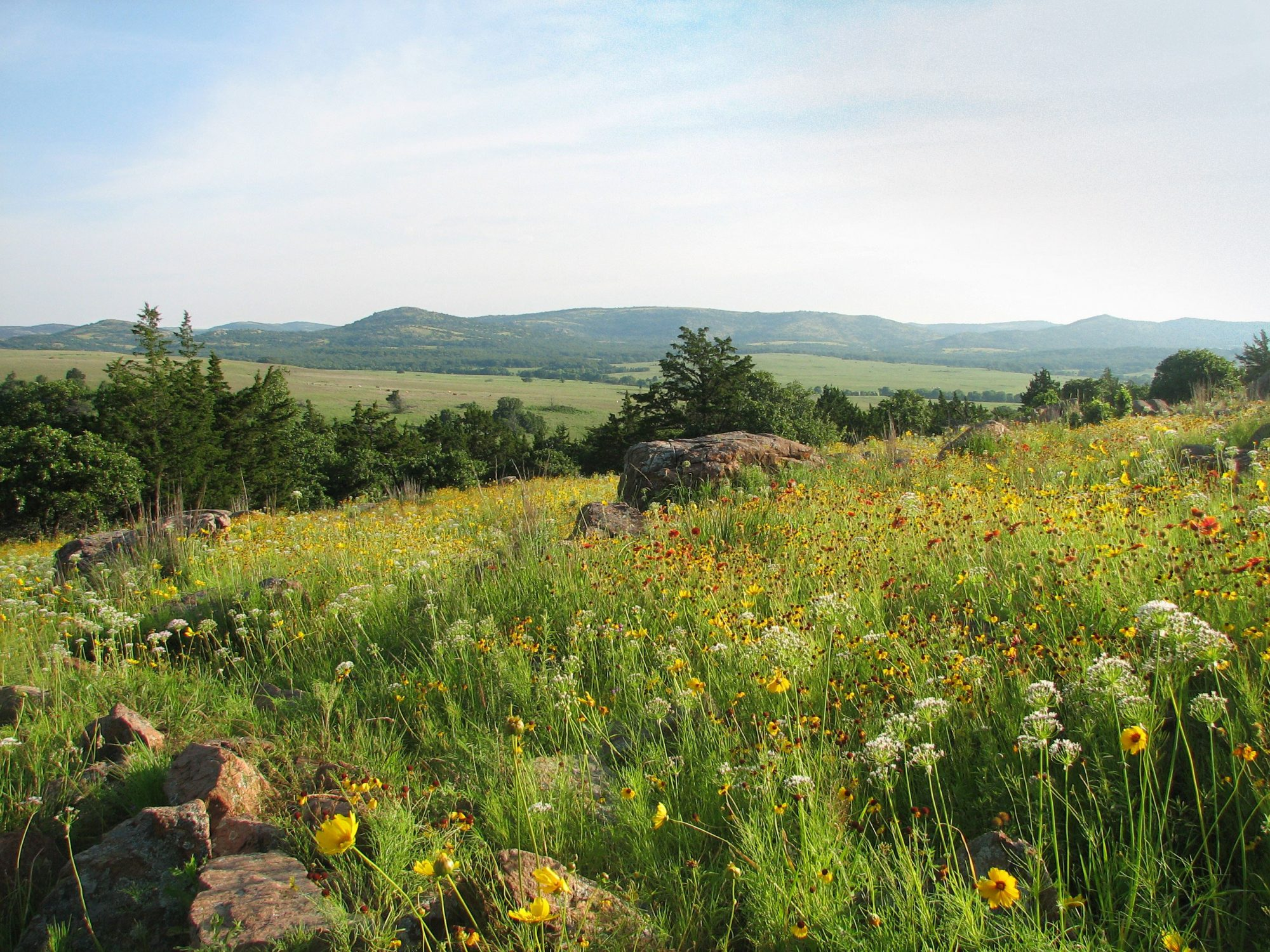 Wichita Mountains Wildlife Refuge in Oklahoma