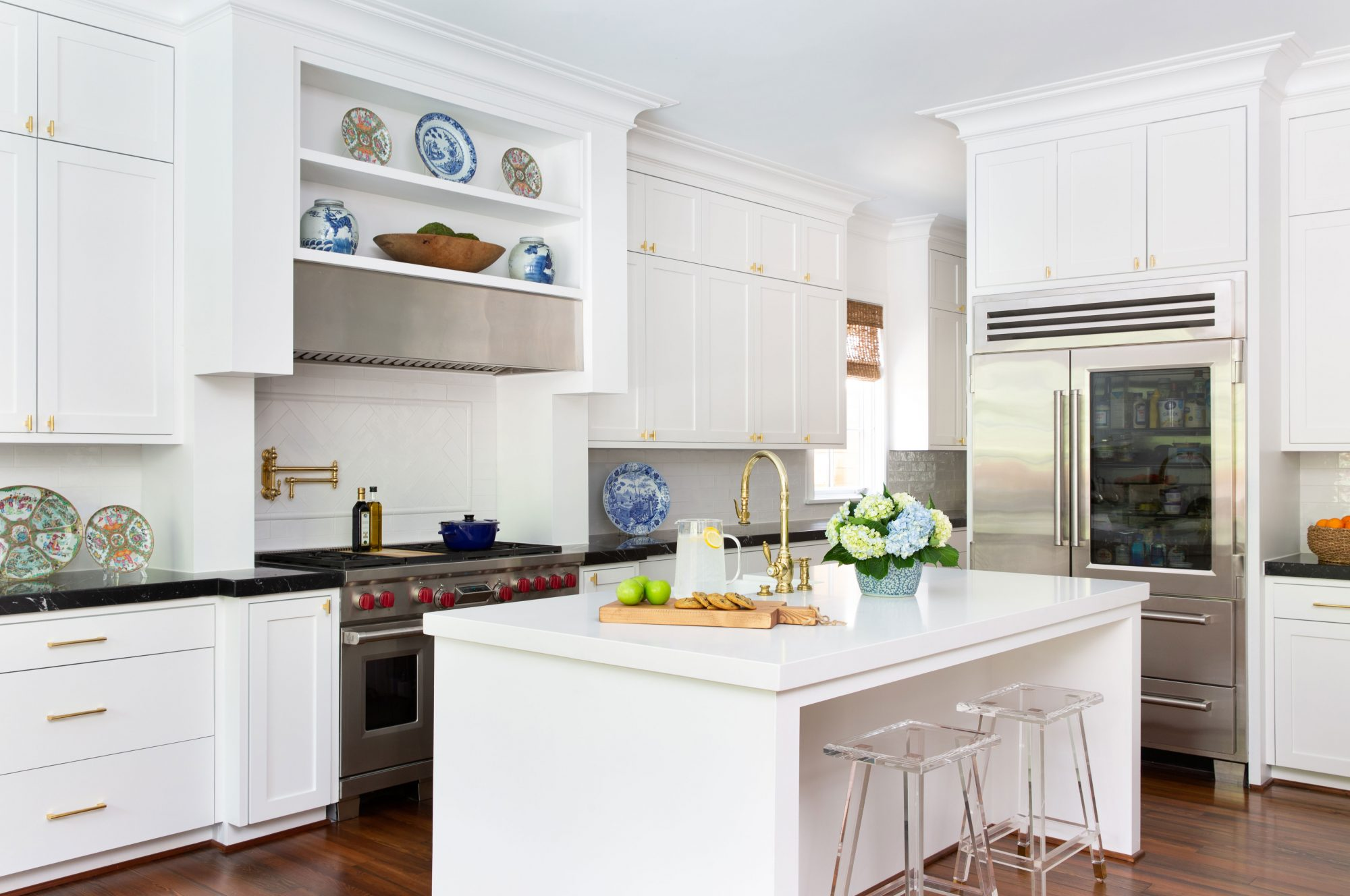 White Kitchen Painted Alabaster by Sherwin Williams