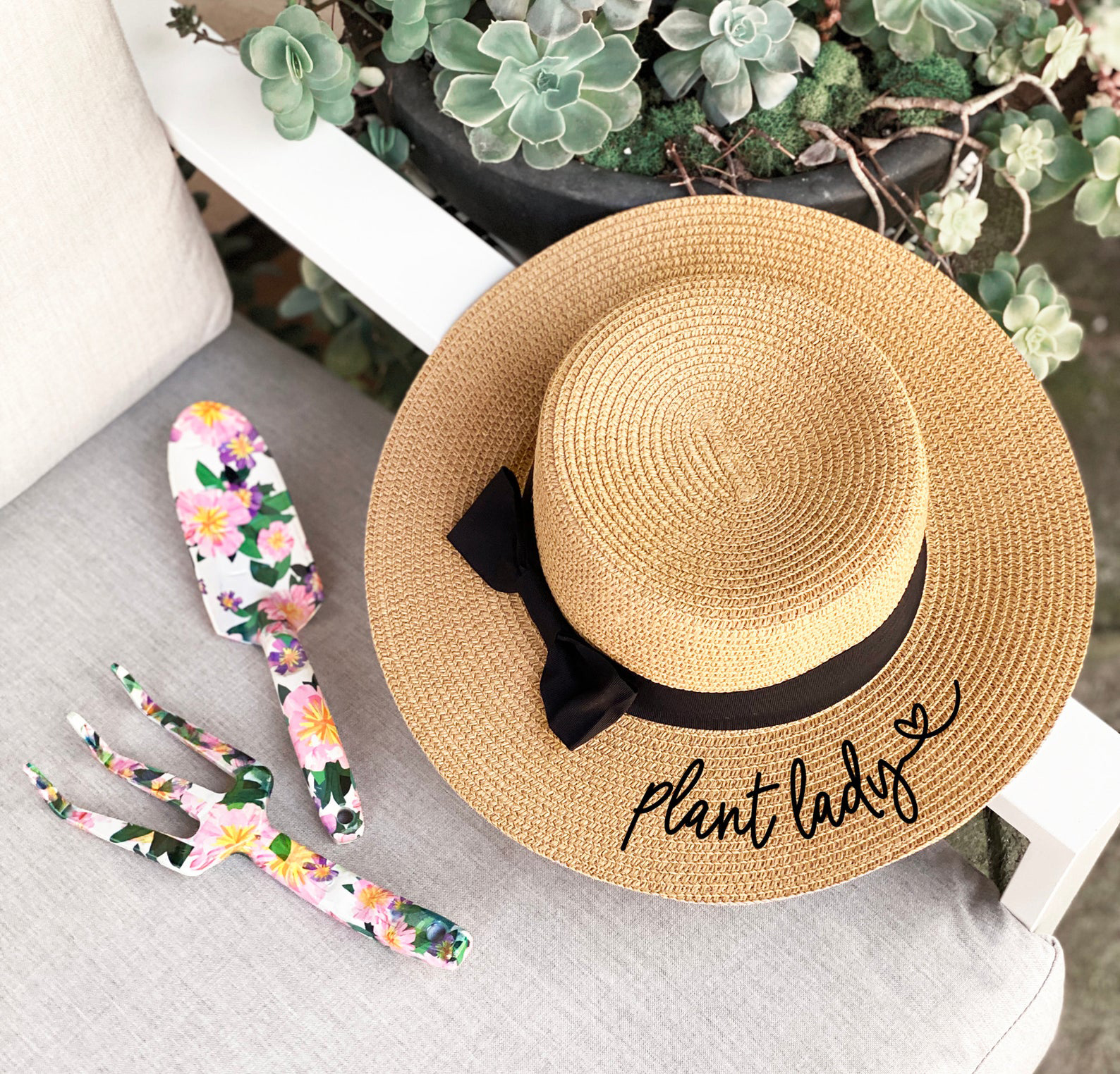 Plant Lady Straw Hat