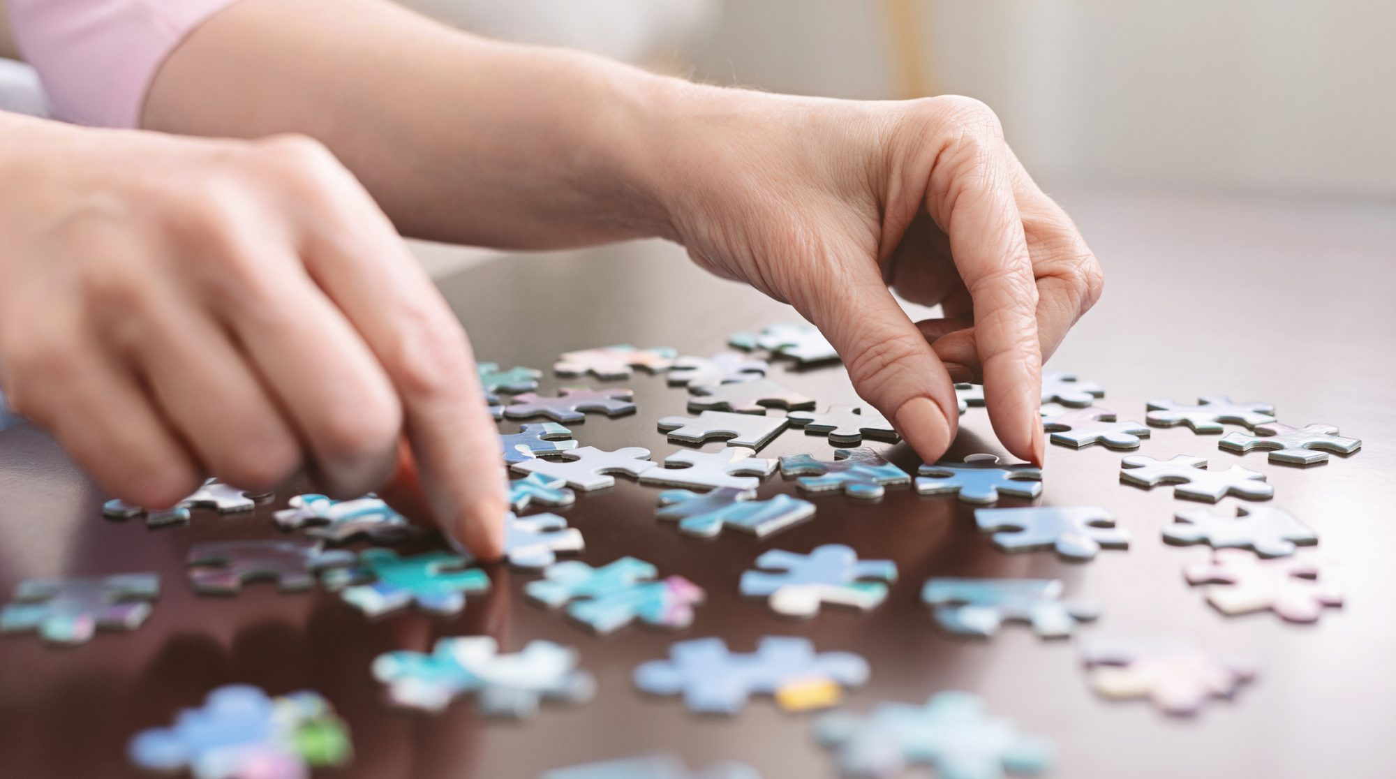 Woman Doing Puzzle
