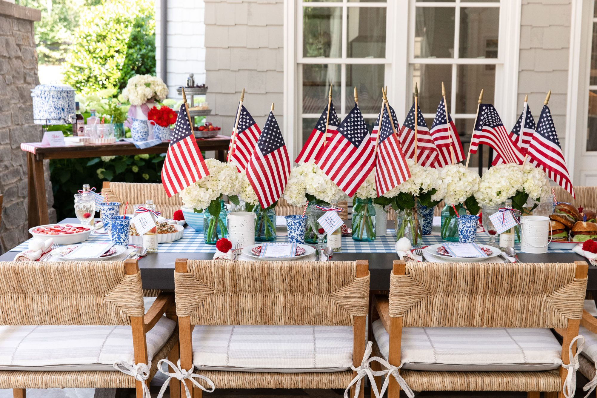 Katie Jacob's 4th of July Tablescape