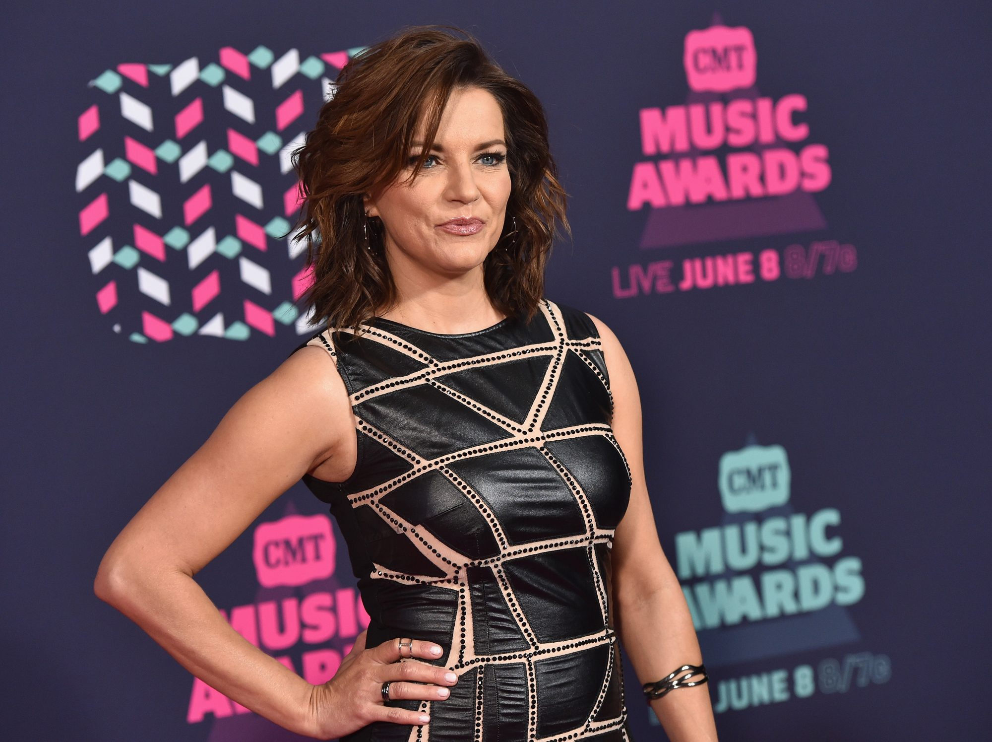 Martina McBride attends the 2016 CMT Music awards at the Bridgestone Arena on June 8, 2016 in Nashville, Tennessee.