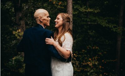 1cb260a332d Bride-to-Be Exchanges Engagement Pictures for First Dance Photo Shoot with  Dying Dad. ""