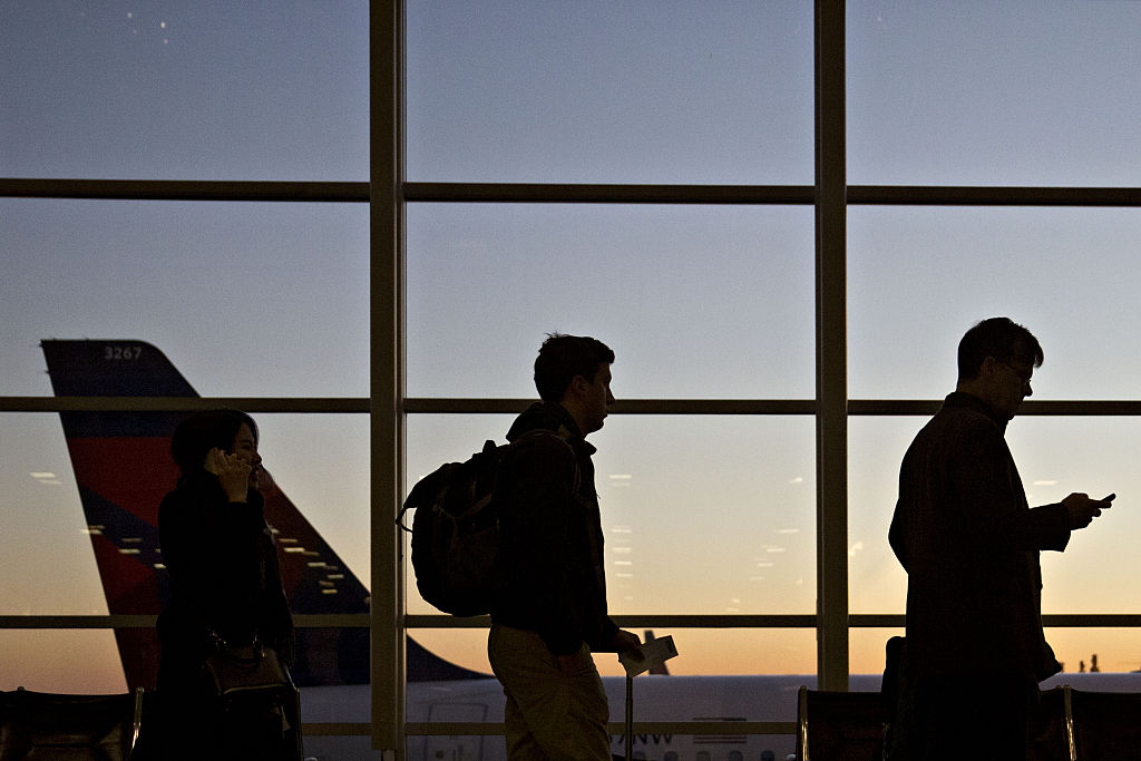 Travelers At Ronald Reagan Airport Ahead Of Thanksgiving Holiday