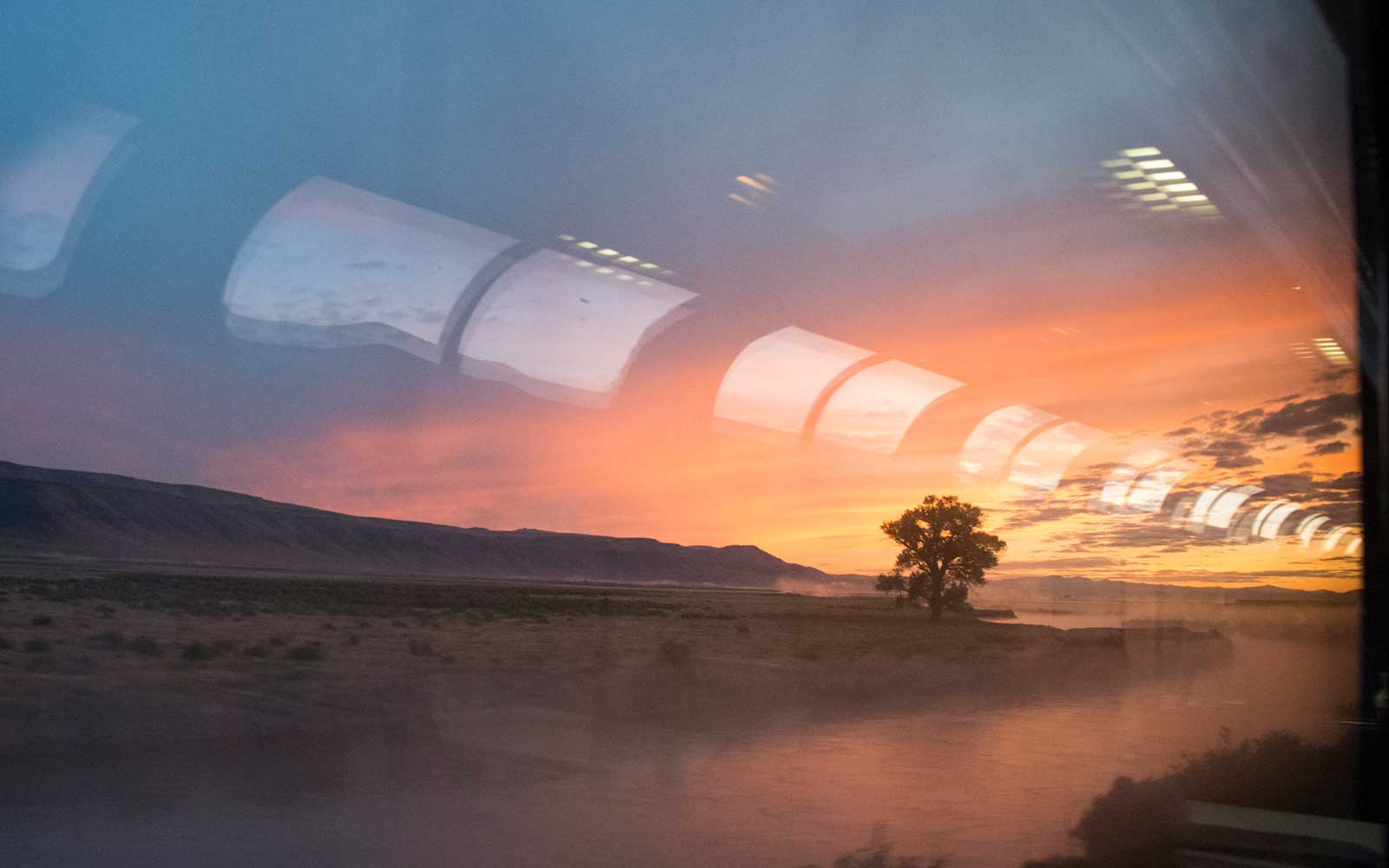 Views onboard the California Zephyr Amtrak train.