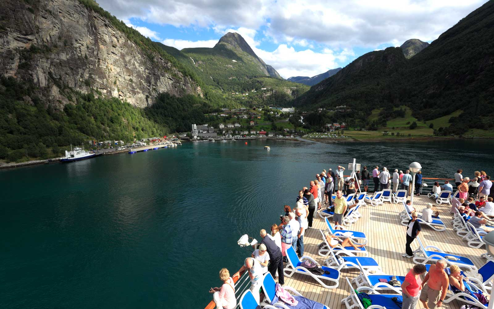 Cruise ships in Geirangerfjord