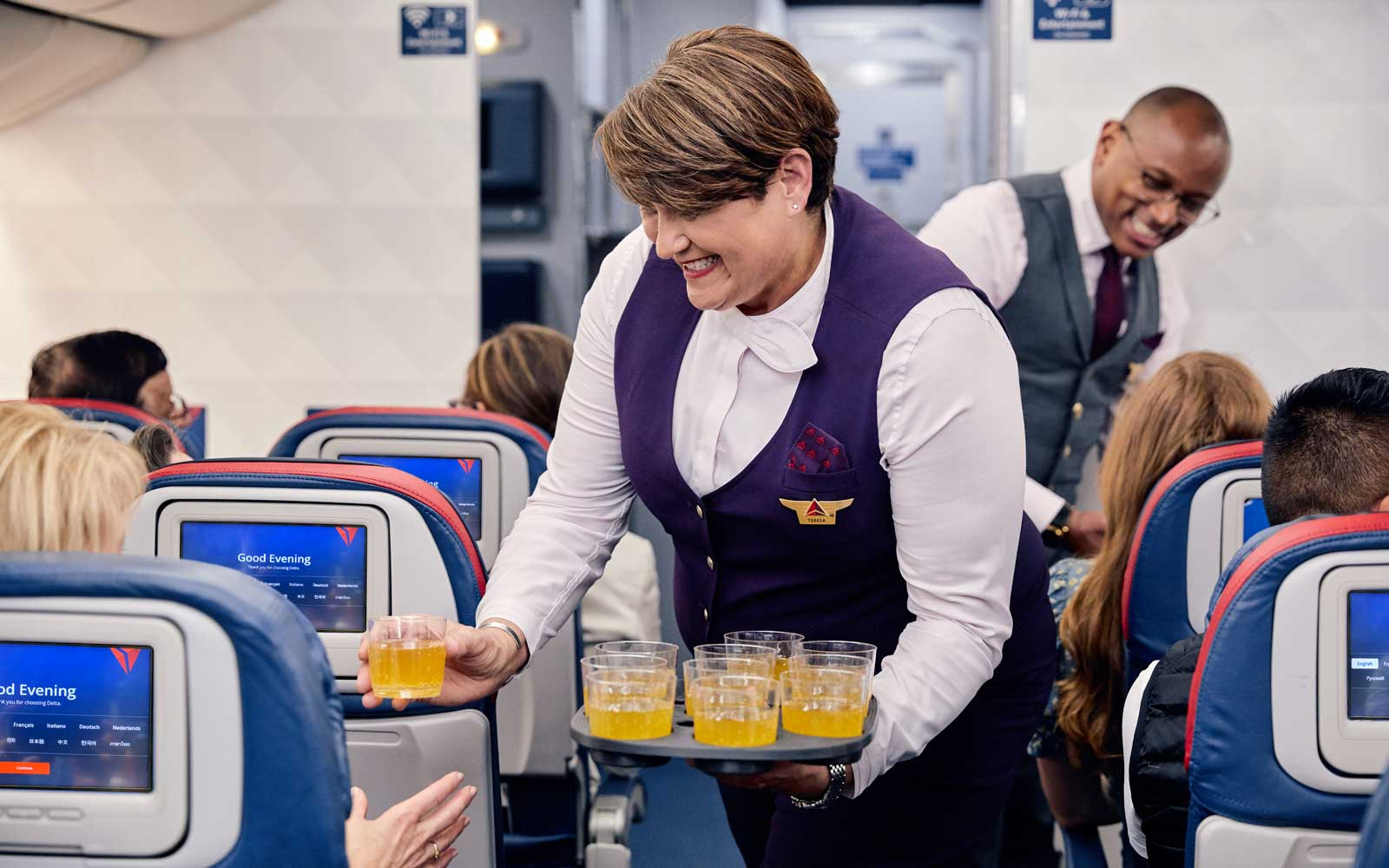 Passengers will receive complimentary welcome drinks.