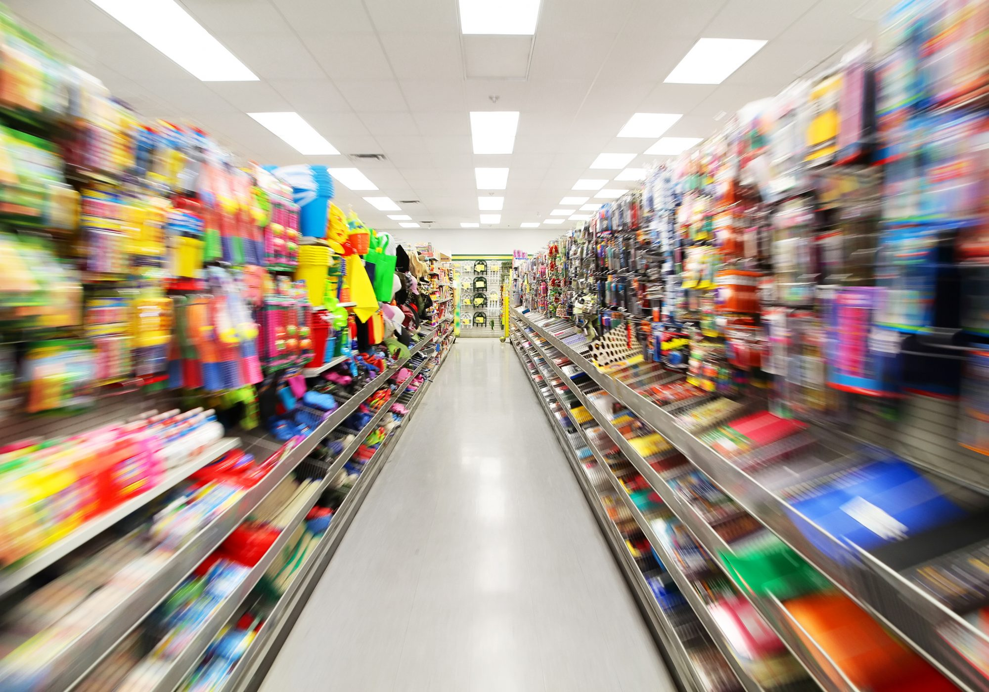 Colorful Store Shelves
