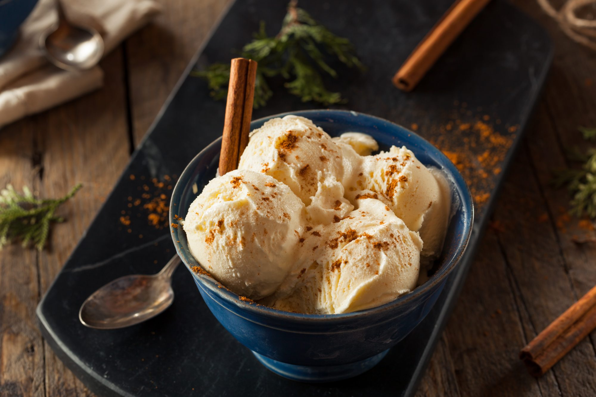 This Eggnog Ice Cream is the Easiest Holiday Dessert Ever