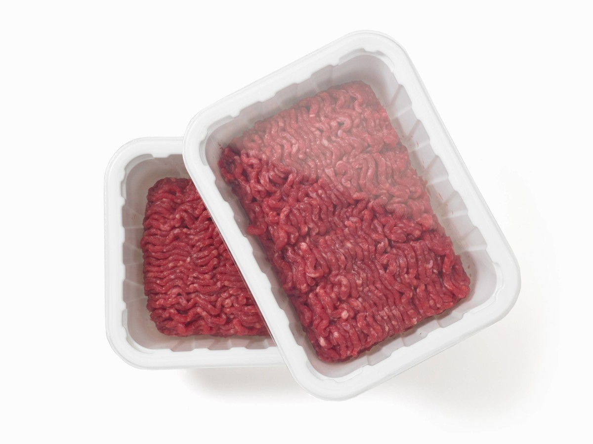 Packaged ground beef