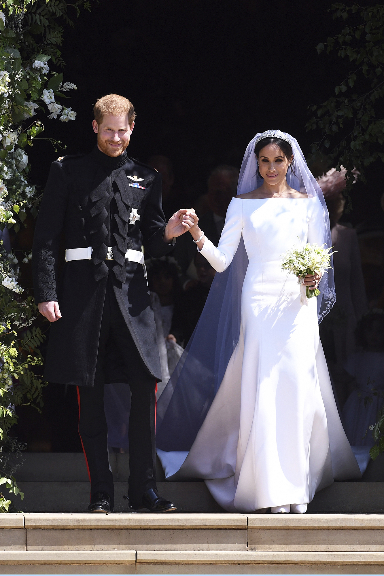 Happy Anniversary! Meghan Markle and Prince Harry Share Previously Unseen Wedding Photos